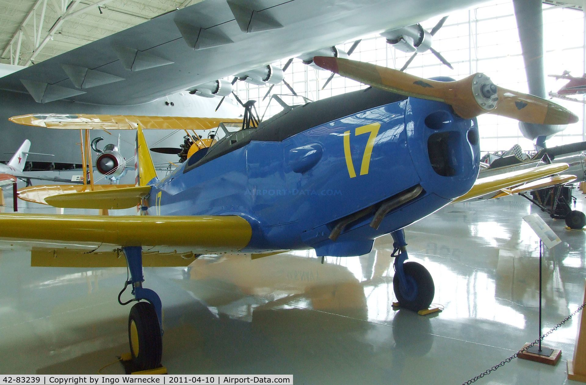 42-83239, 1943 Fairchild PT-19B C/N T43-5826, Fairchild PT-19B at the Evergreen Aviation & Space Museum, McMinnville OR