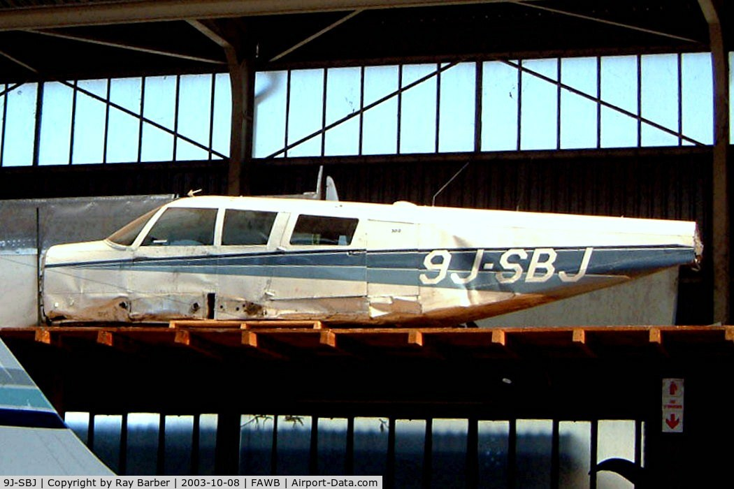 9J-SBJ, 1967 Piper PA-32-300 Cherokee Six Cherokee Six C/N 32-40189, Piper PA-32-300 Cherokee Six [32-40189] Pretoria-Wonderboom~ZS 08/10/2003. Stored here for possible rebuild. Had reserved registration of ZS-PHZ issued in 2004.