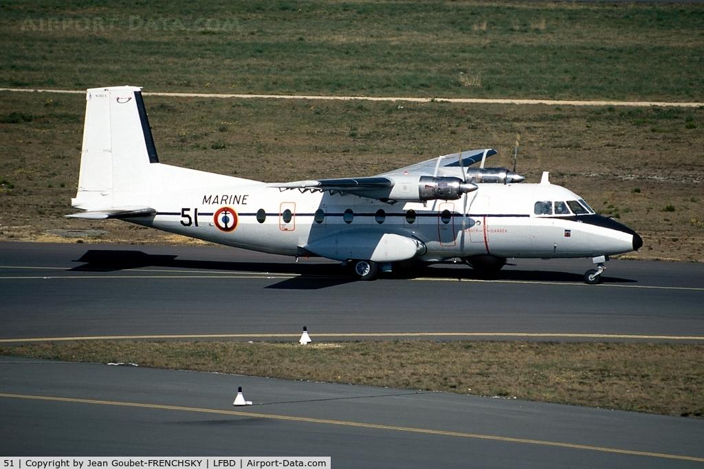 51, 1969 Aerospatiale N-262A-34 Fregate C/N 51, FRENCH NAVY 51