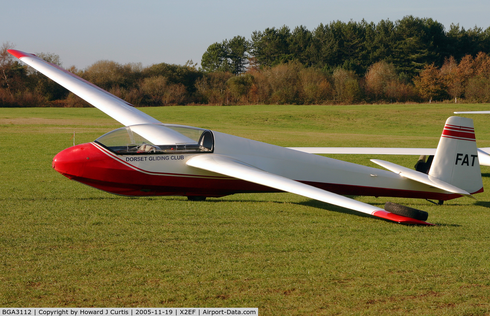 BGA3112, Schleicher ASK-13 C/N 13528, At the Dorset Gliding Club airfield at Eyres Field, Gallows Hill. Now G-DFAT.