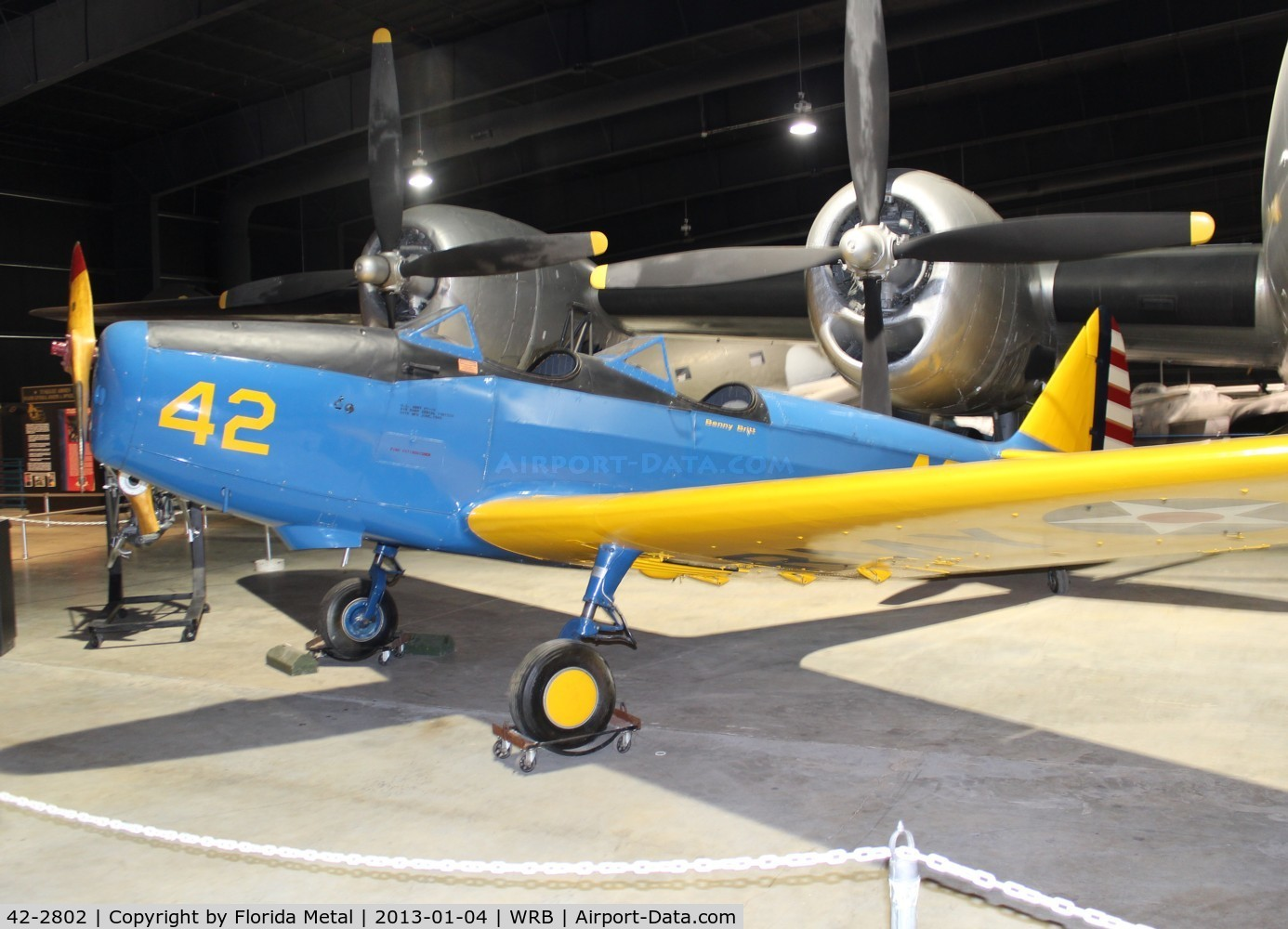 42-2802, 1942 Fairchild PT-19A C/N Not found 42-2802, PT-19A