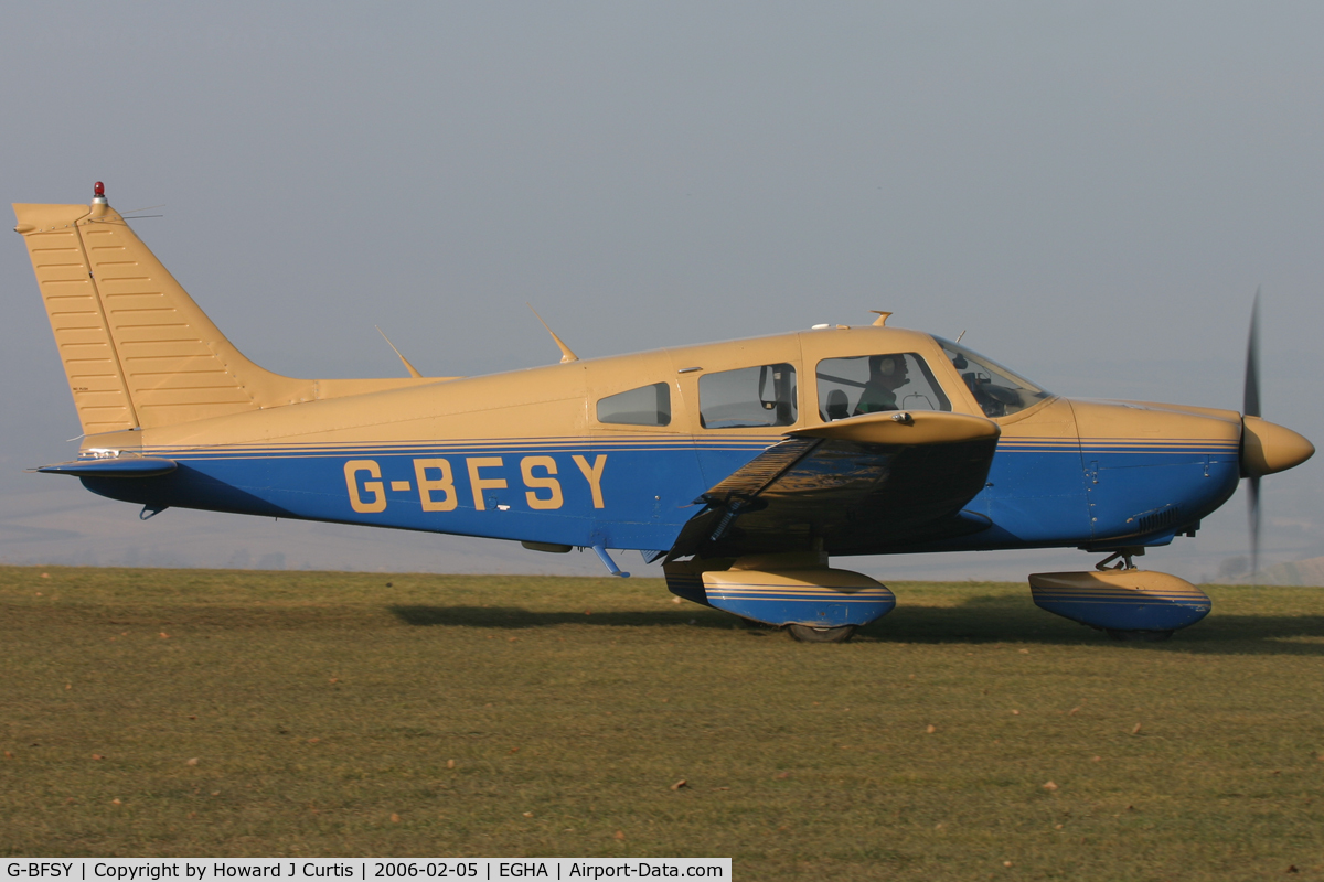 G-BFSY, 1977 Piper PA-28-181 Cherokee Archer II C/N 28-7890200, Privately owned.