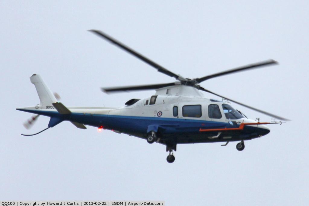QQ100, 2001 Agusta A-109E Power C/N 11131, First in the 'QQ' series, allocated for QinetiQ aircraft.