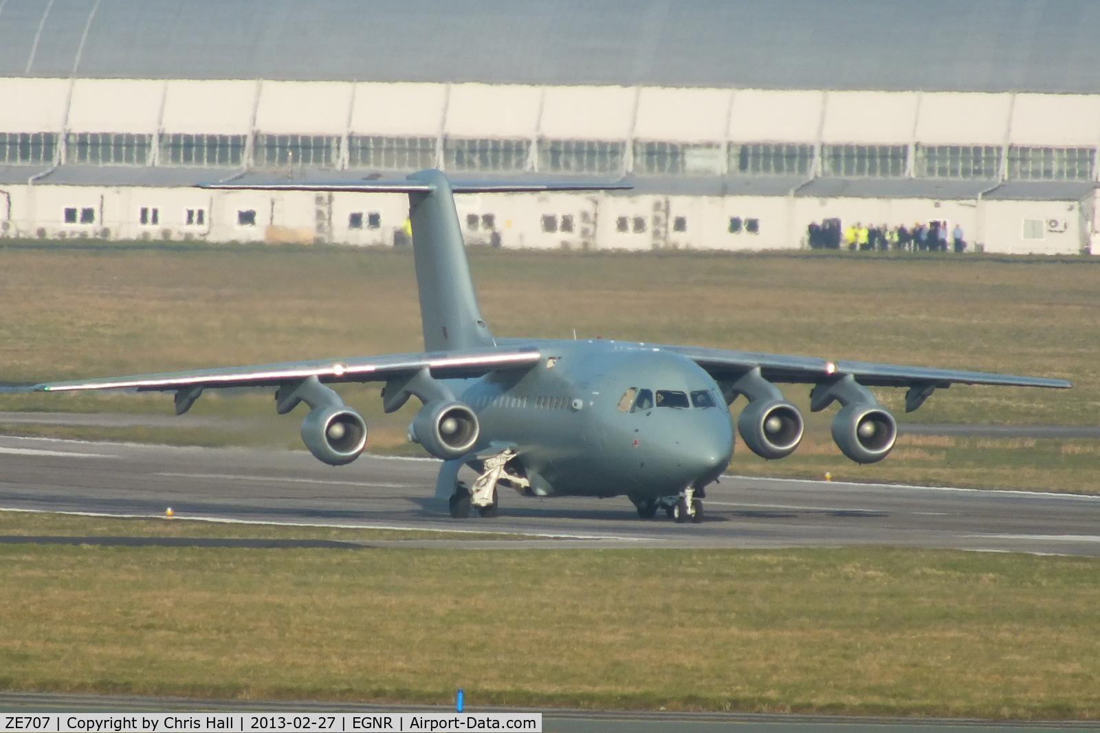 ZE707, 1993 British Aerospace BAe.146-200QC Quick Change C/N E2211, Royal Air Force