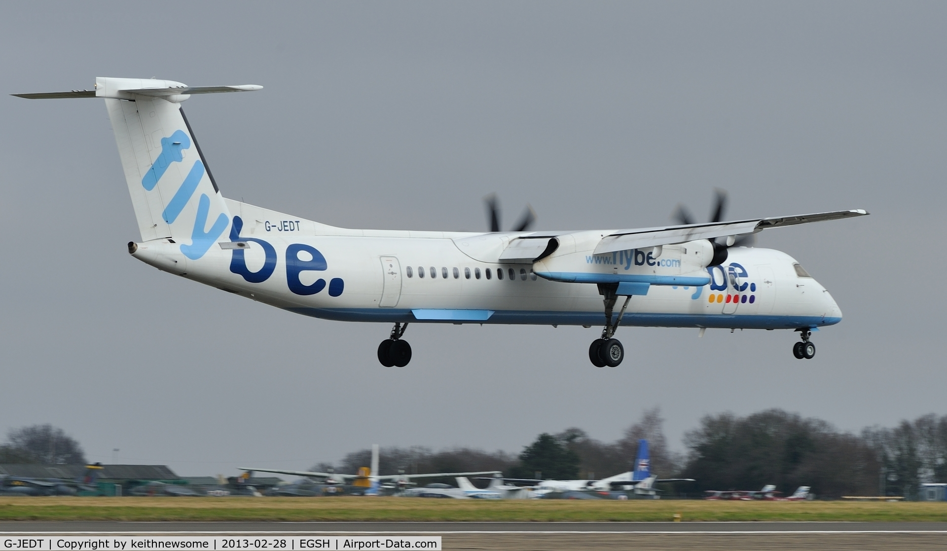 G-JEDT, 2003 De Havilland Canada DHC-8-402Q Dash 8 C/N 4088, Another FlyBe -8 for the set !
