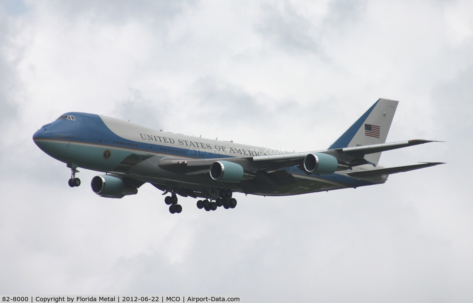 82-8000, 1988 Boeing VC-25A C/N 23824, Air Force One