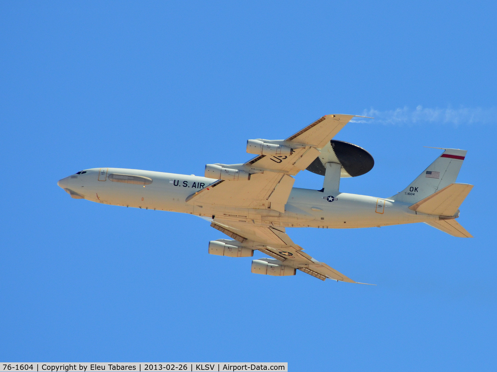 76-1604, 1976 Boeing E-3B Sentry C/N 21434, Taken during Red Flag Exercise at Nellis Air Force Base, Nevada.
