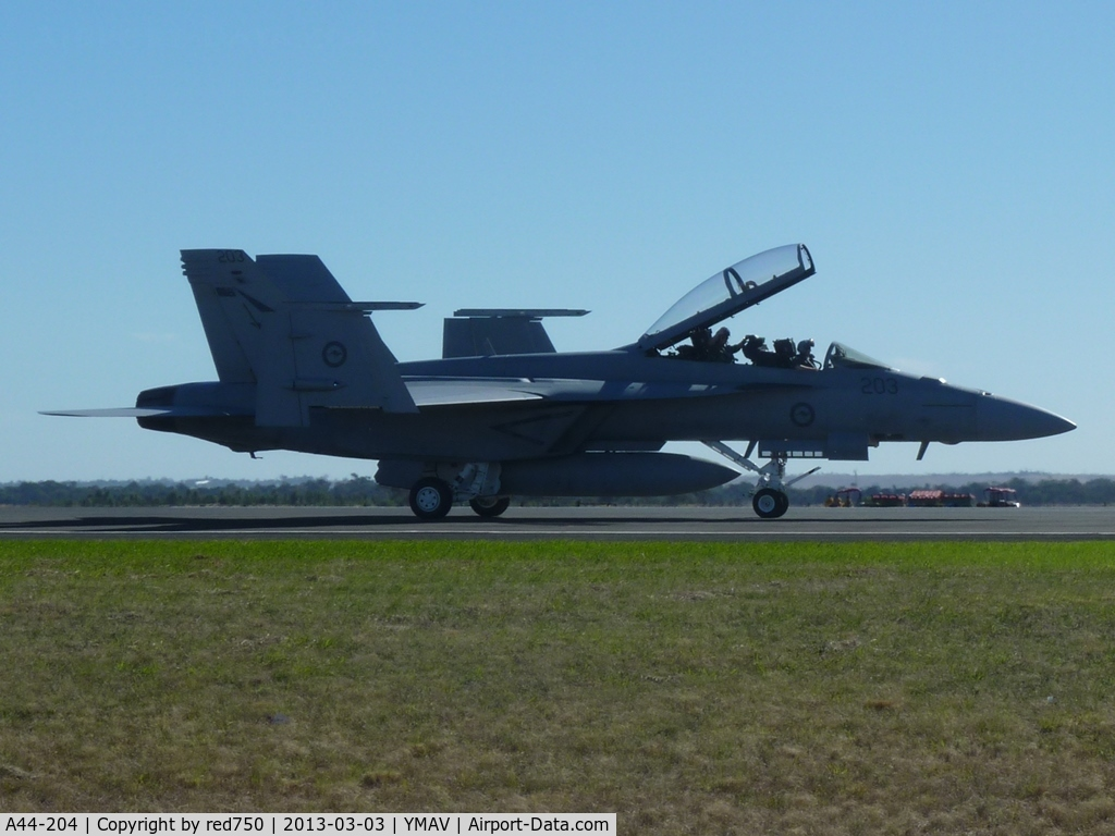 A44-204, Boeing F/A-18F Super Hornet C/N AF-4, A44-204 at the 2013 Australian International Airshow, Avalon