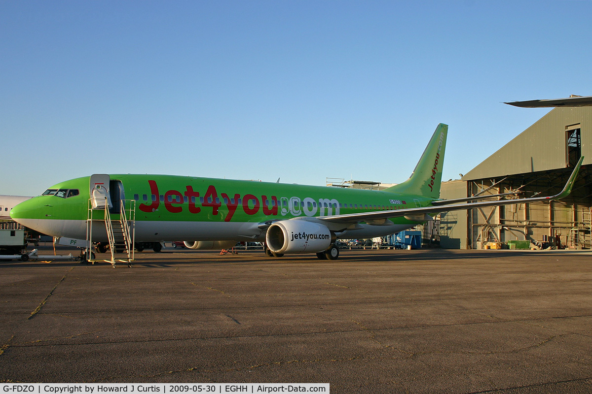 G-FDZO, 2007 Boeing 737-8K5 C/N 34691, An early morning rollout from the spray shop in Jet4You.com titles. To be CN-RPF.