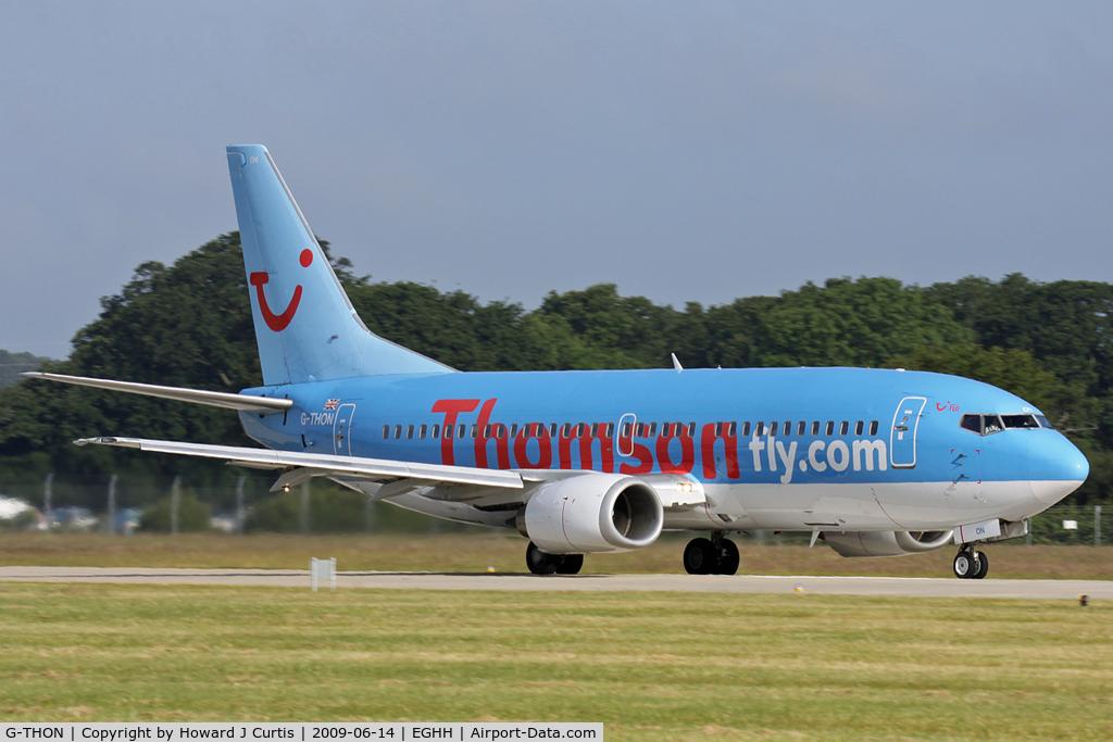 G-THON, 1999 Boeing 737-36N C/N 28596, Thomsonfly.com titles