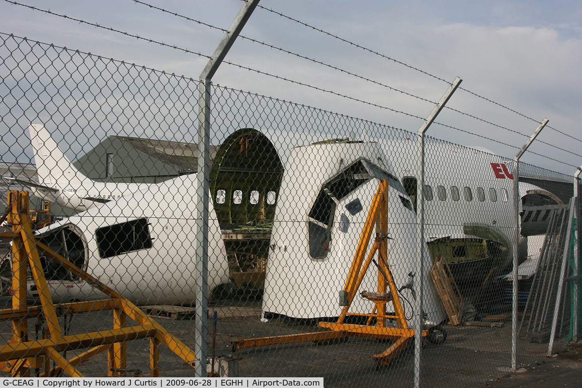 G-CEAG, 1975 Boeing 737-229 C/N 21136, Ex European aviation, now chopped into large sections.