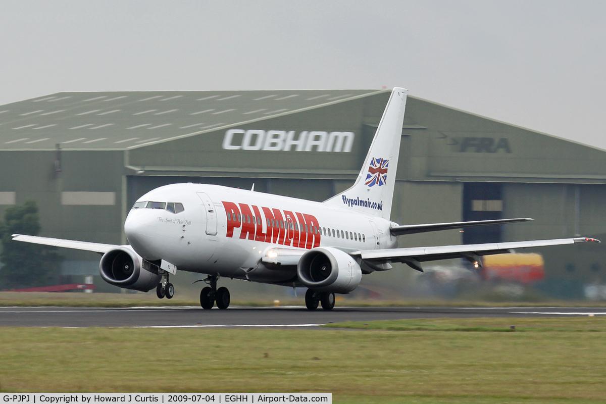 G-PJPJ, 1994 Boeing 737-5H6 C/N 27355, Palmair, departing on runway 26.
