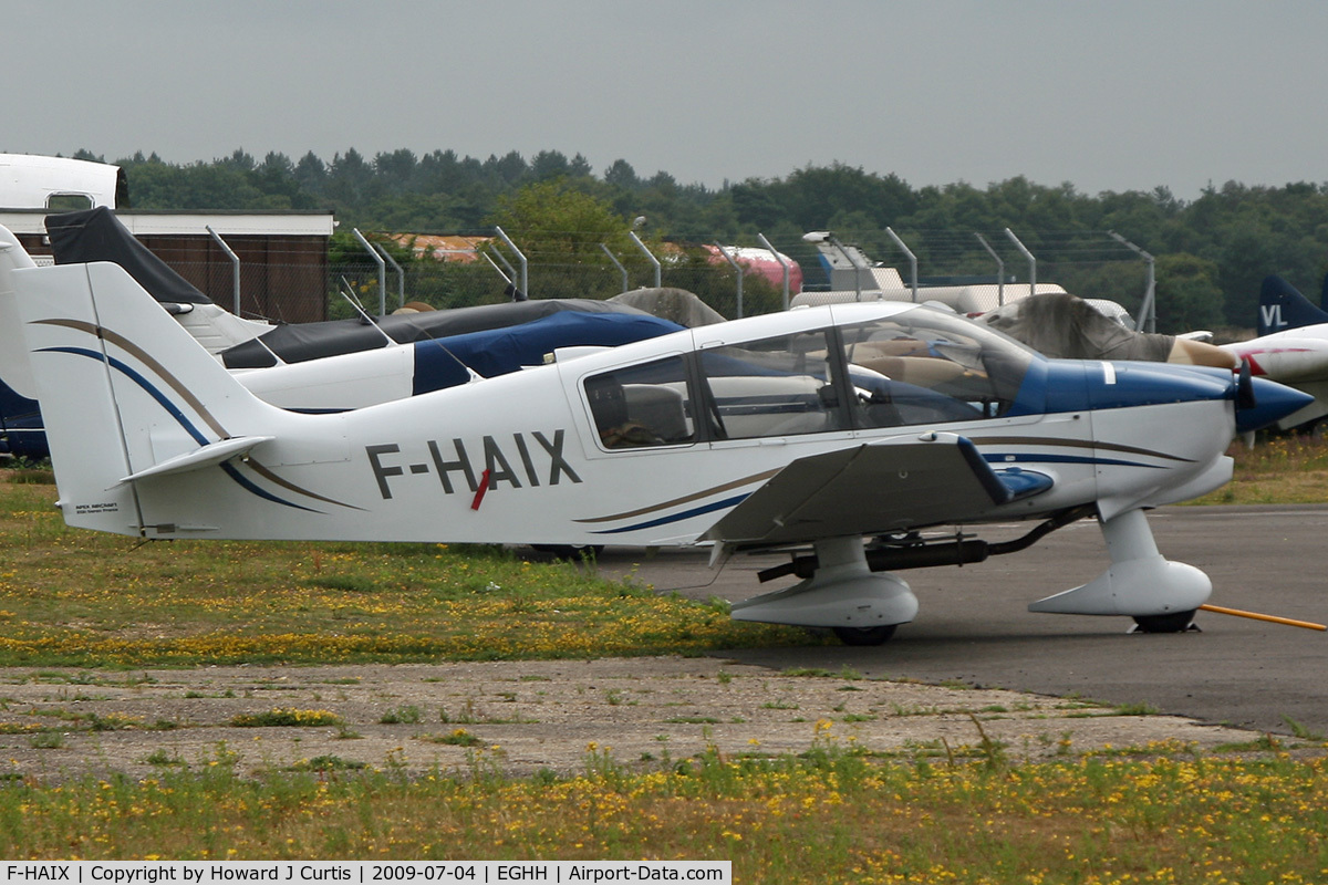 F-HAIX, 2006 Robin DR-400-180 C/N 2609, Built by APEX Aircraft. Privately owned.