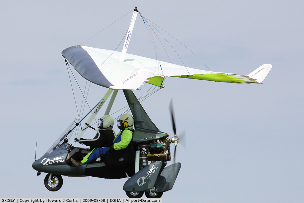 G-IGLY, 2008 P&M Aviation Quik GT450 C/N 8372, Privately owned.