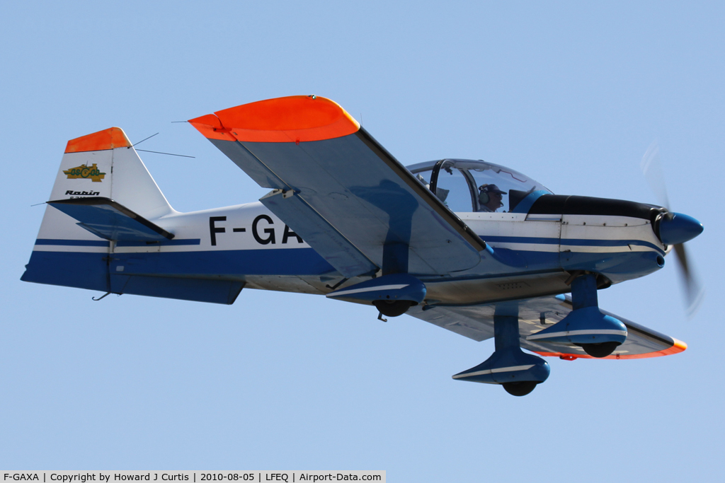 F-GAXA, Robin R-2160 Alpha Sport C/N 112, Privately owned.
