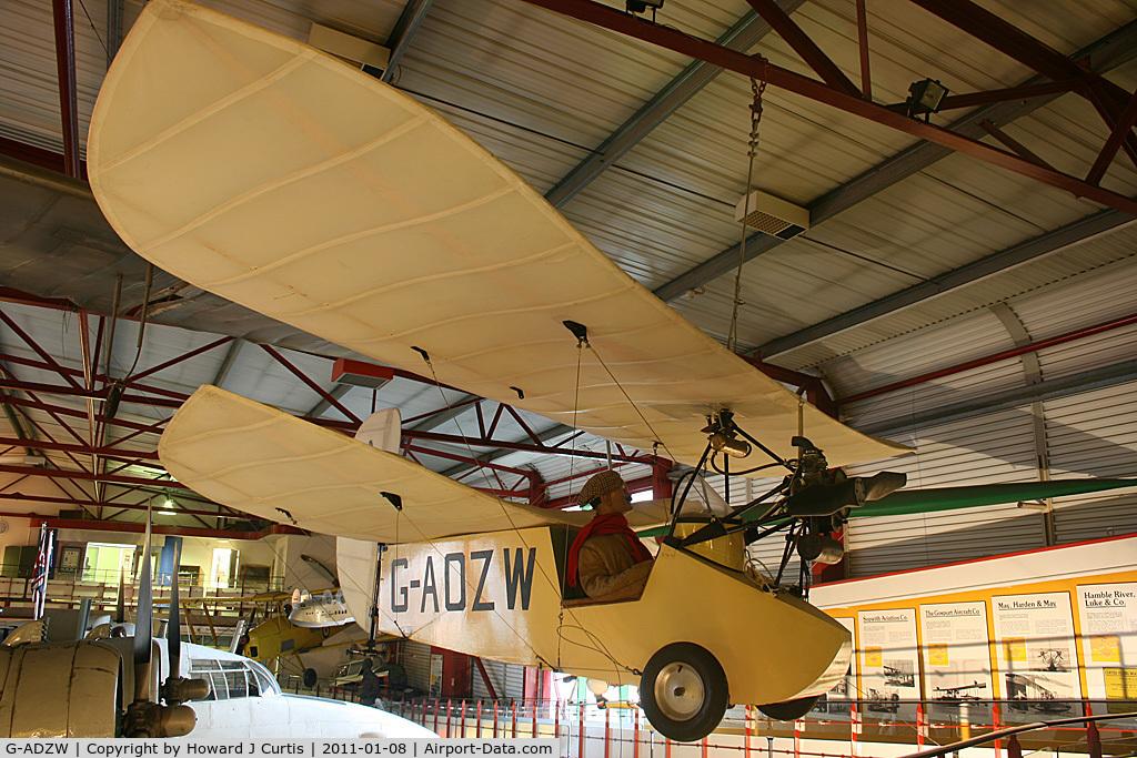 G-ADZW, Mignet HM.14 Pou-du-Ciel C/N Not found G-ADZW, Preserved at the Solent Sky Museum, Southampton.