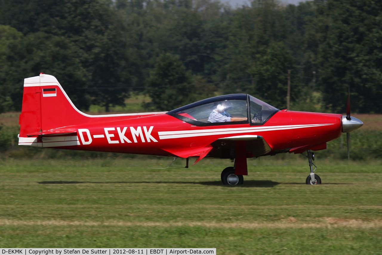 D-EKMK, 1962 Aeromere F-8L Falco III C/N 232, Schaffen Fly In 2012.