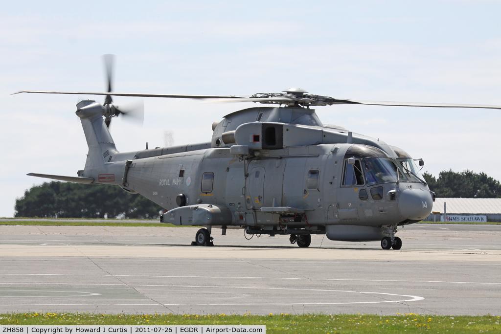 ZH858, 2002 AgustaWestland EH-101 Merlin HM1 (Mk111) C/N 50155/RN38, Coded 14/820 NAS.