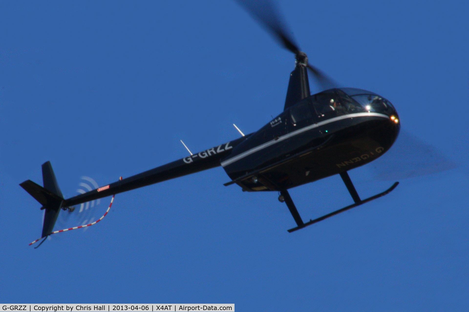 G-GRZZ, 2008 Robinson R44 Raven II C/N 12149, Ferrying racegoers into Aintree for the 2013 Grand National
