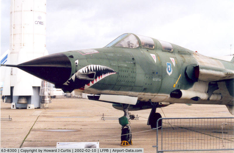 63-8300, 1963 Republic F-105G Thunderchief C/N F077, Preserved at the Musee de l'Air.