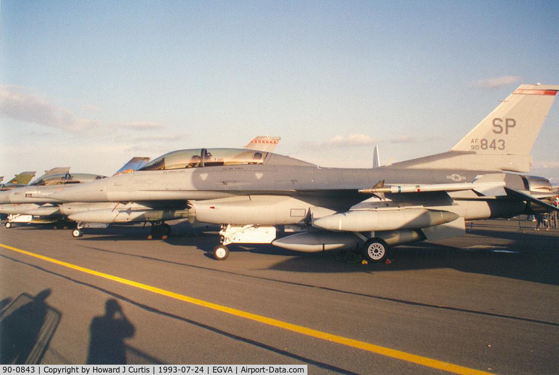 90-0843, 1990 General Dynamics F-16DJ-50-CF C/N CD-10, In the static display. 22nd FS/52nd FW.