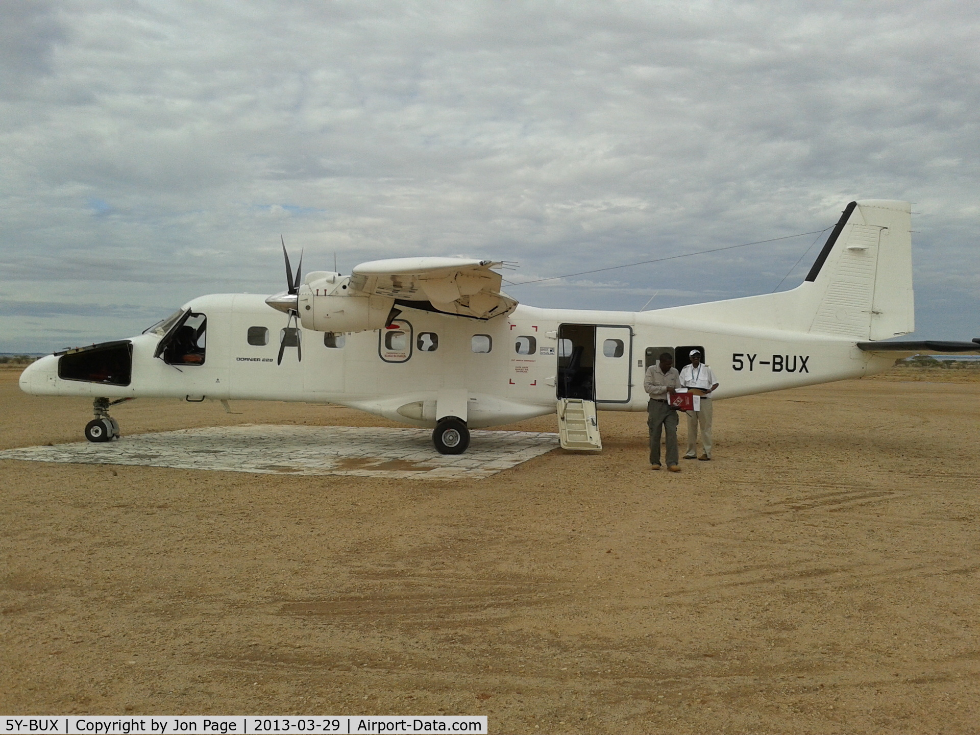 5Y-BUX, 1985 Dornier 228-201 C/N 8080, Taken during stop on route to Lokichar, Kenya.