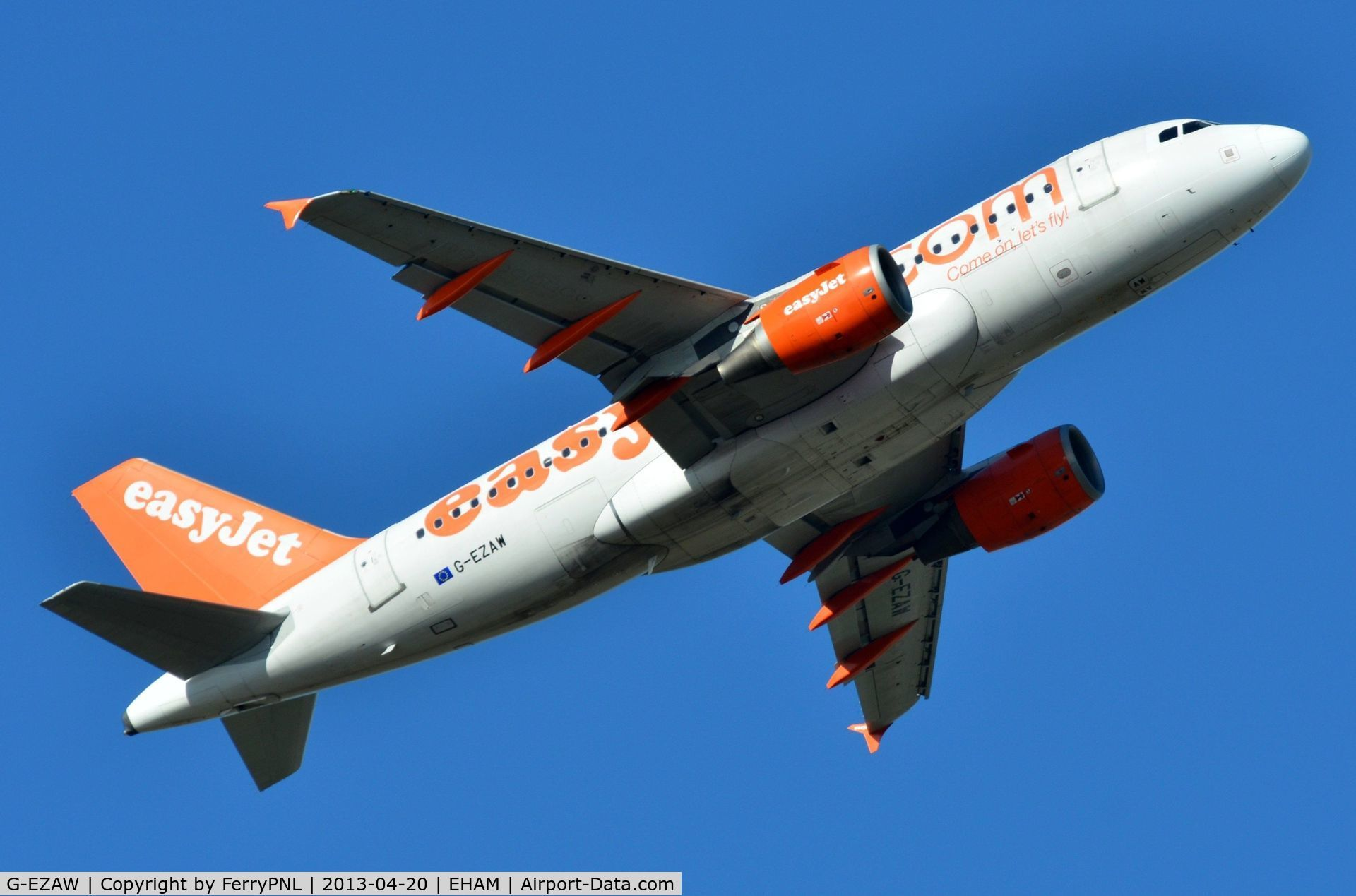 G-EZAW, 2006 Airbus A319-111 C/N 2812, Easyjet A319 lifting off from AMS