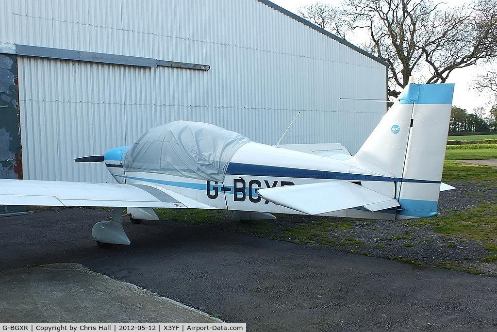 G-BGXR, 1974 Robin HR-200-100 Club C/N 53, at Yeatsall Farm, Abbots Bromley