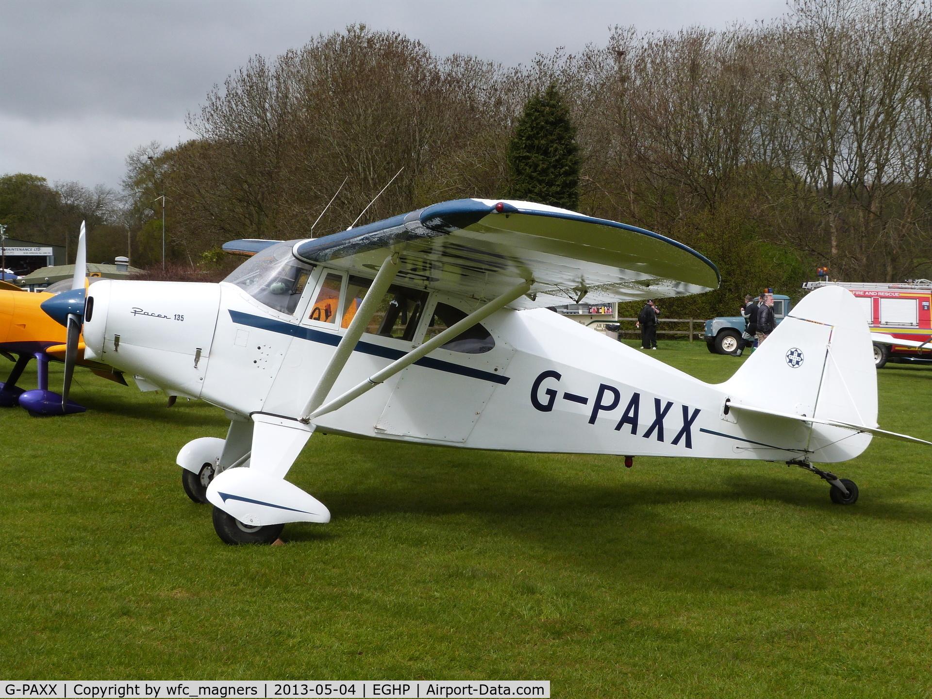 G-PAXX, 1954 Piper PA-20-135 Pacer Pacer C/N 20-1107, I.P. Burnett. Microlight Trade Fair, Popham Airfield