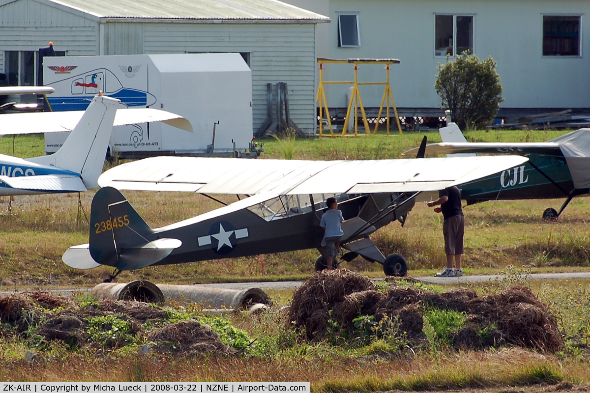 ZK-AIR, Piper J3C-65 Cub Cub C/N 9024, At North Shore Aerodrome