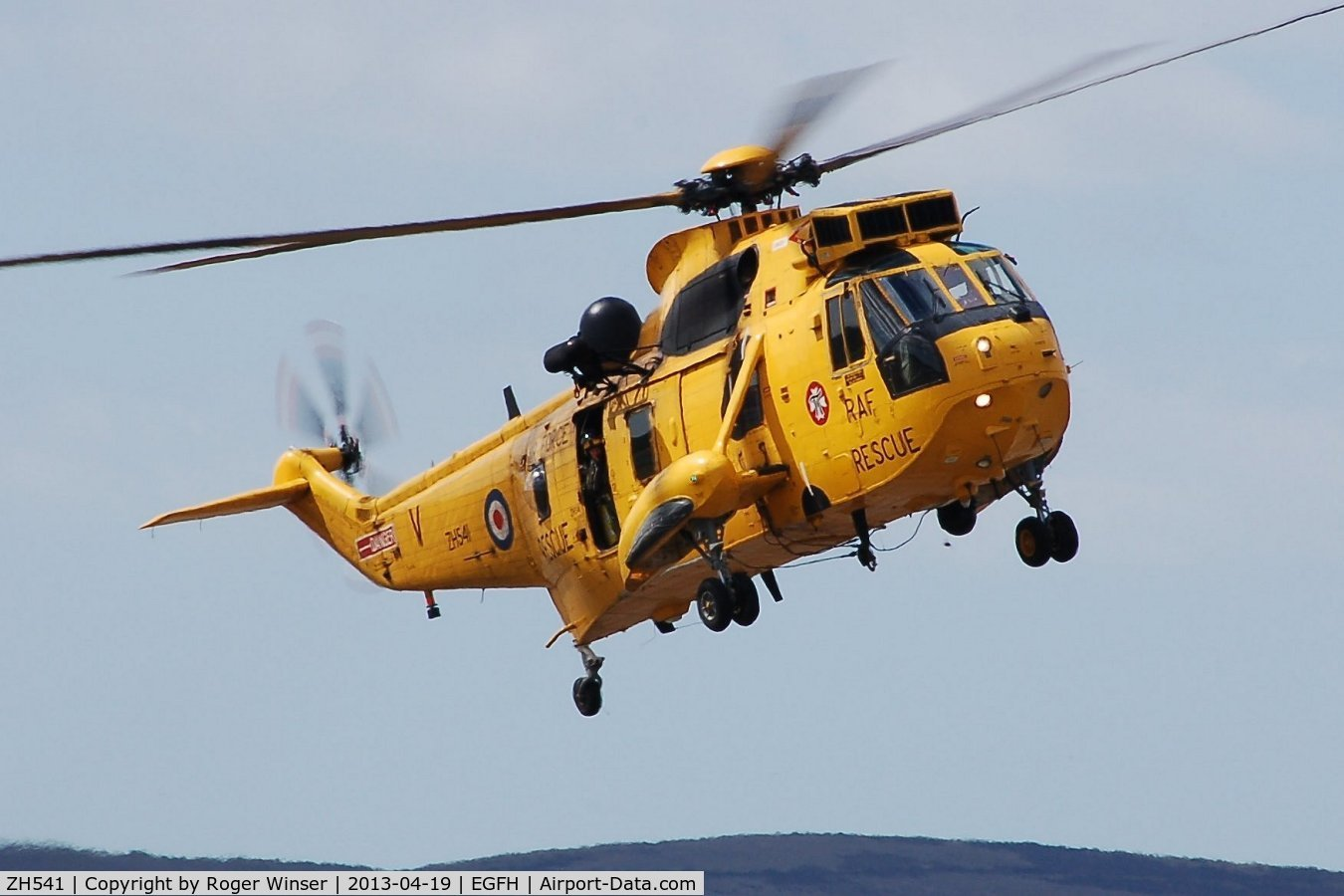 ZH541, Westland Sea King HAR.3A C/N WA1007, Visiting 22 Squadron RAF Sea King on a training excercise.