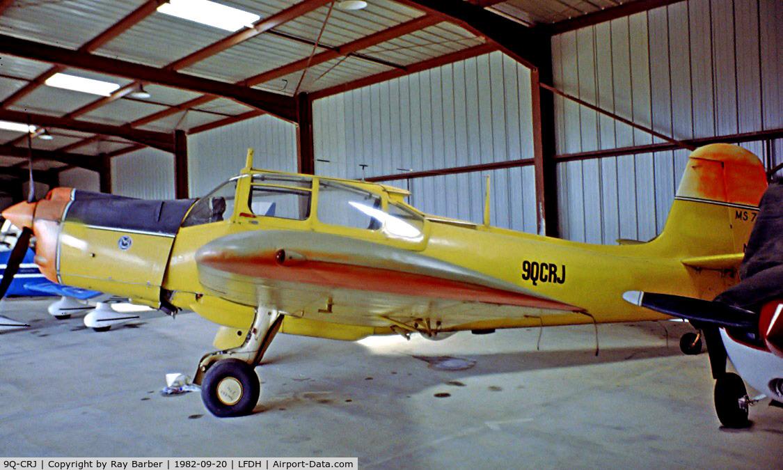 9Q-CRJ, Morane-Saulnier MS-733 Alcyon C/N 72, Morane-Saulnier MS.733 Alcyon [72] Auch-la-Mothe~F 20/09/1982. Image taken from a slide.