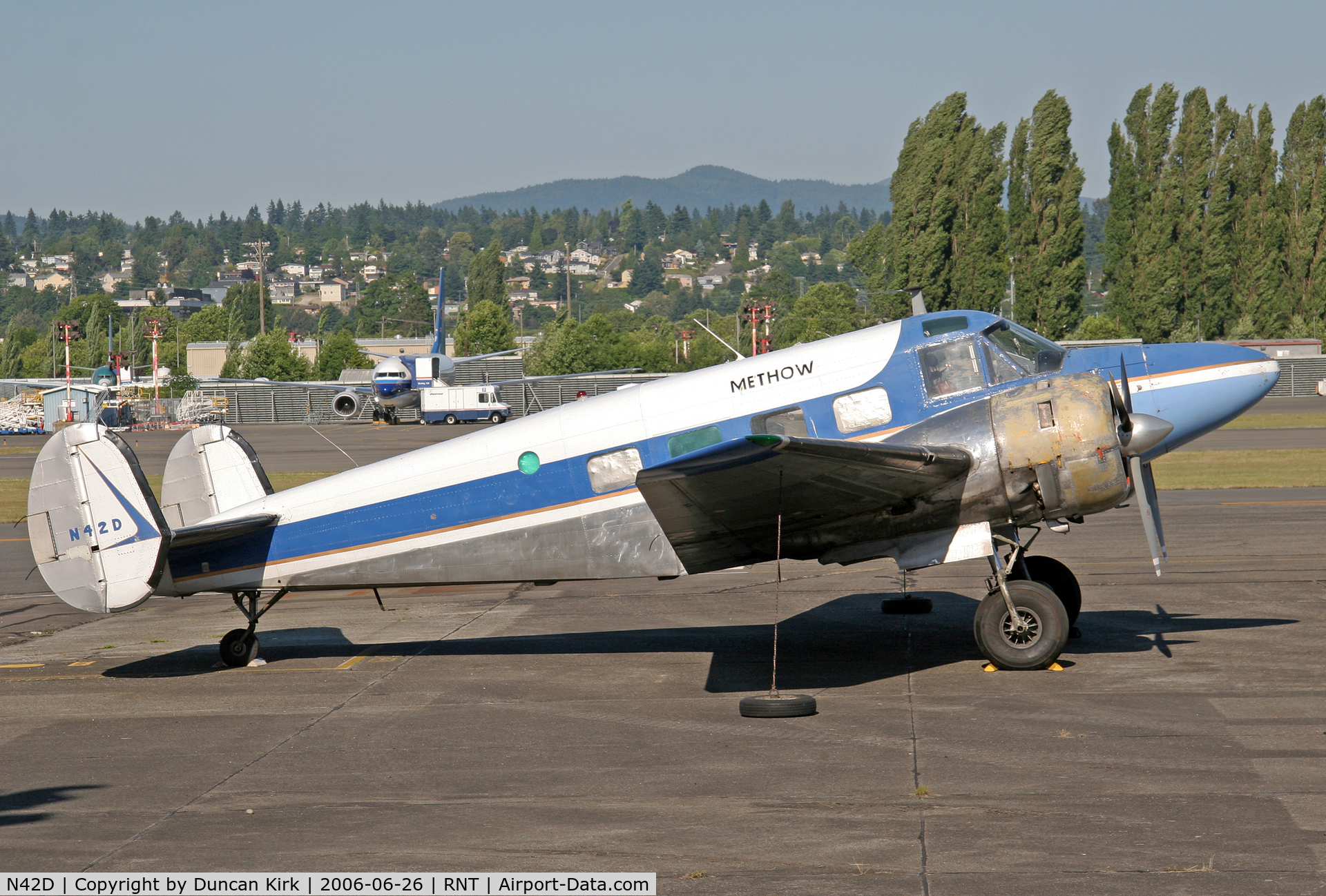 N42D, 1955 Beech E18S C/N BA-117, Post Methow operations but still wearing titles
