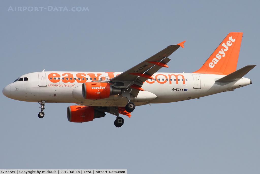 G-EZAW, 2006 Airbus A319-111 C/N 2812, Landing