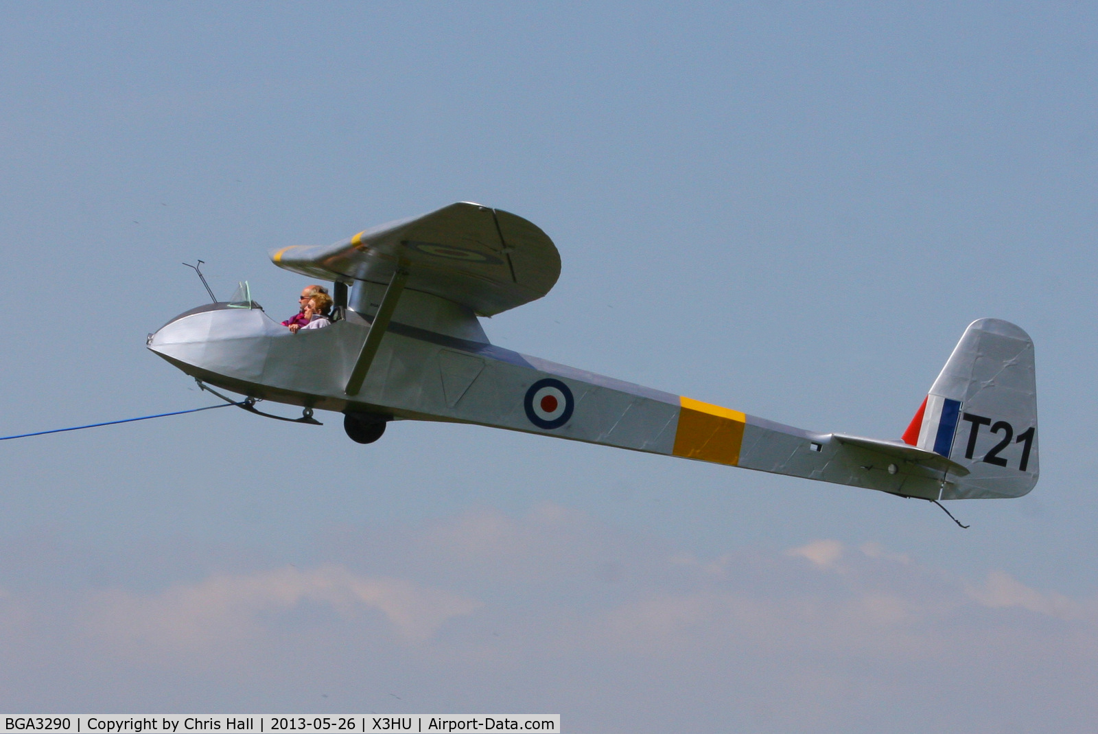 BGA3290, 1949 Slingsby T-21B Sedbergh TX.1 C/N MHL.007, Coventry Gliding Club, Husbands Bosworth