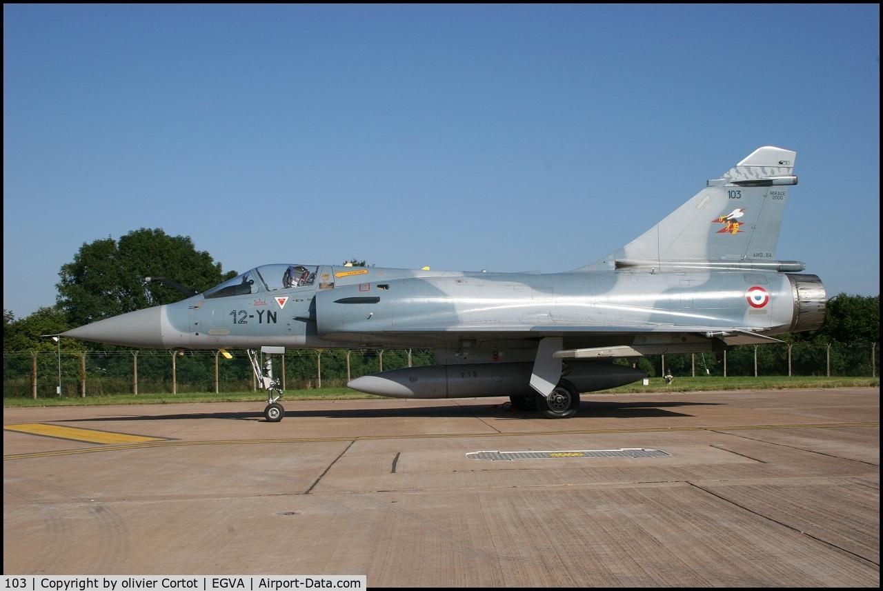 103, Dassault Mirage 2000C C/N 367, 12-YN, RIAT 2005