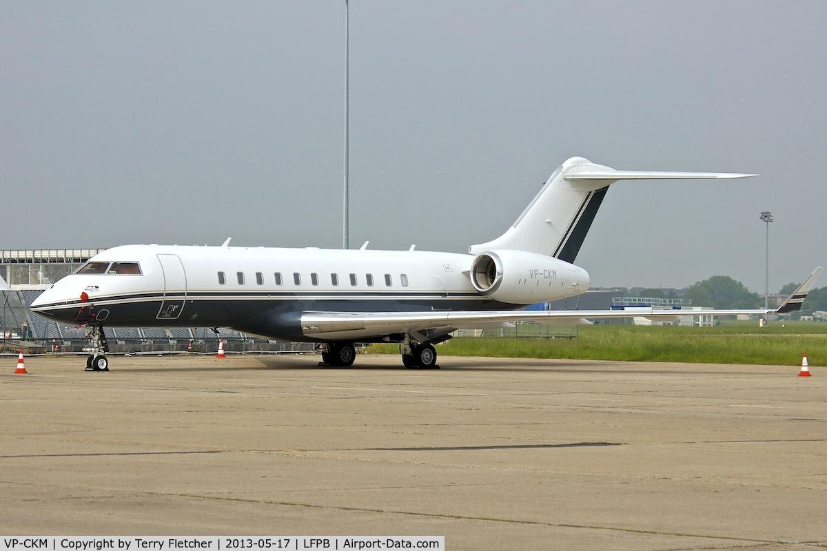 VP-CKM, 2013 Bombardier BD-700-1A11 Global 5000 C/N 9445, 2013 Bombardier BD 700, c/n: 9445 at Paris Le Bourget