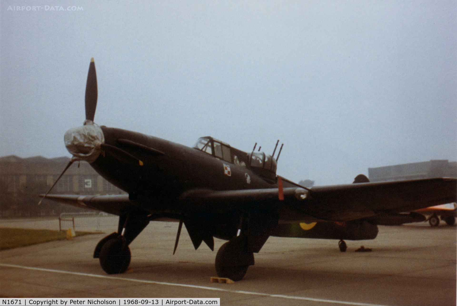 N1671, 1938 Boulton Paul Defiant I C/N Not found N1671, Boulton-Paul Defiant 1 in 307 Squadron markings on display at the 1968 RAF Finningley Airshow. It was then part of the Station Collection and now preserved at the RAF Museum at Hendon.