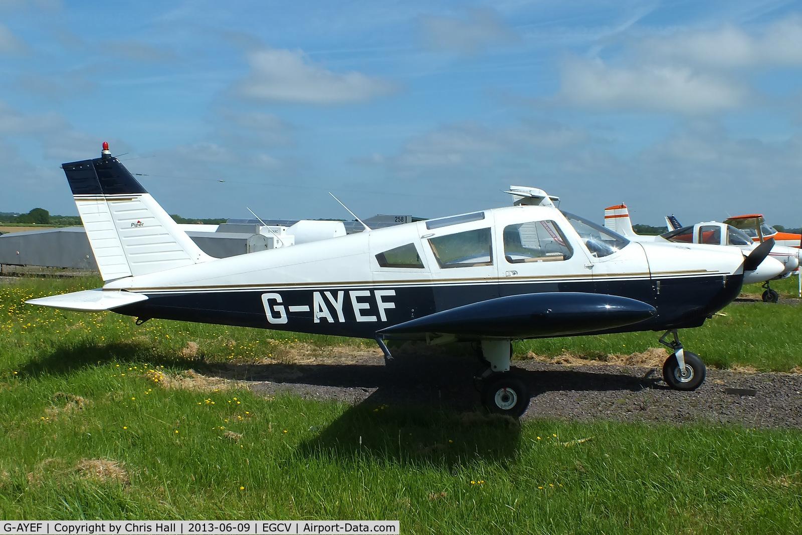 G-AYEF, 1970 Piper PA-28-180 Cherokee C/N 28-5815, Pegasus flying group
