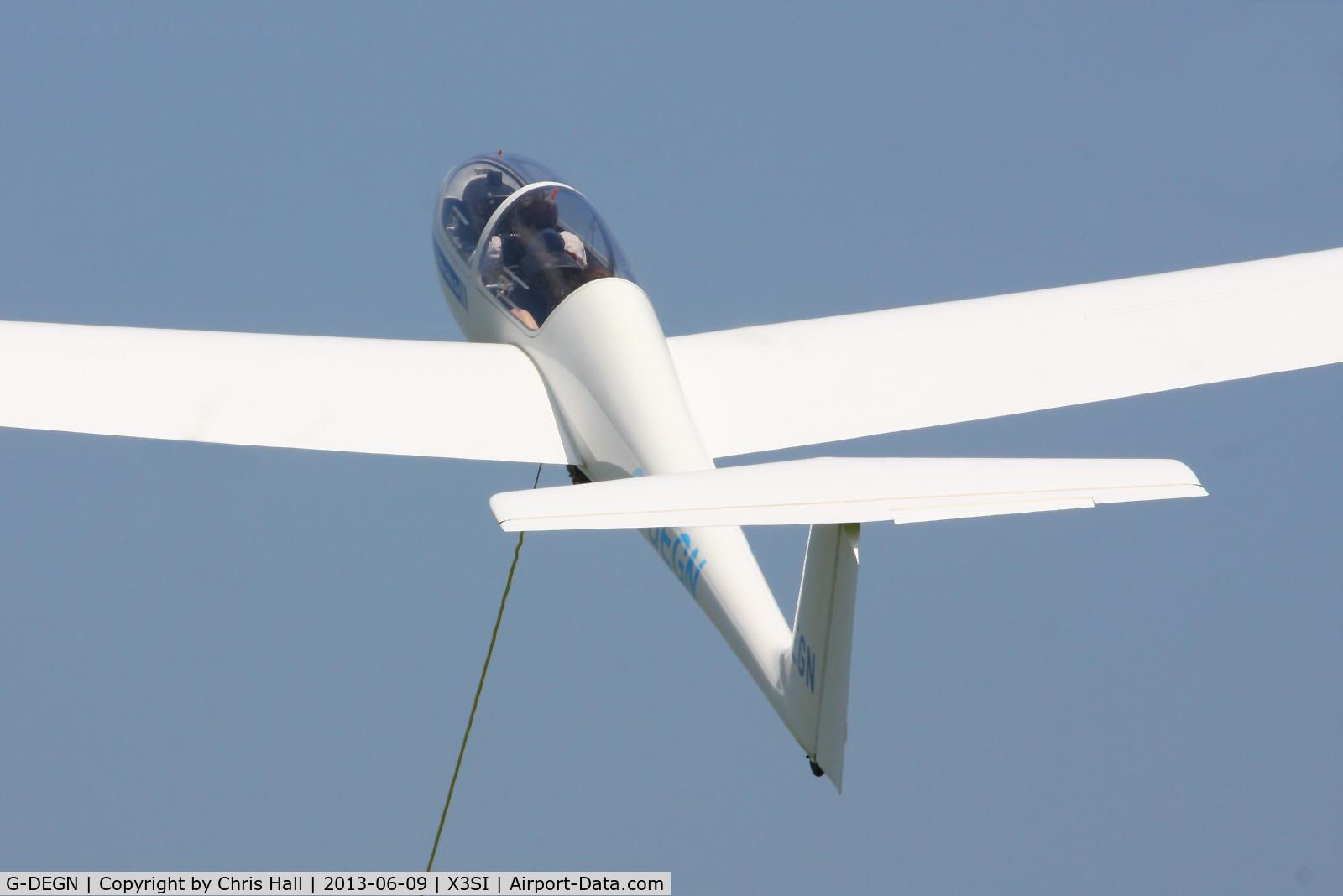 G-DEGN, 1980 Grob G-103 Twin Astir II C/N 3542, Staffordshire Gliding Club, Seighford Airfield
