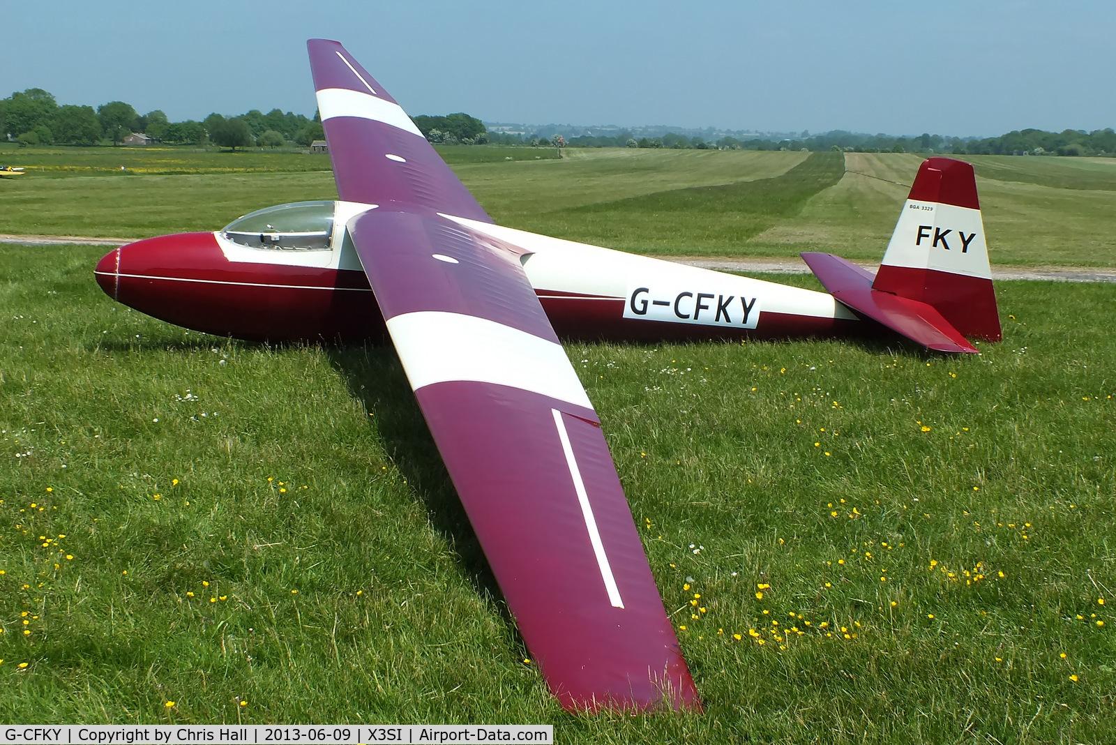 G-CFKY, 1960 Schleicher Ka-6CR Rhonsegler C/N 822, Staffordshire Gliding Club, Seighford Airfield