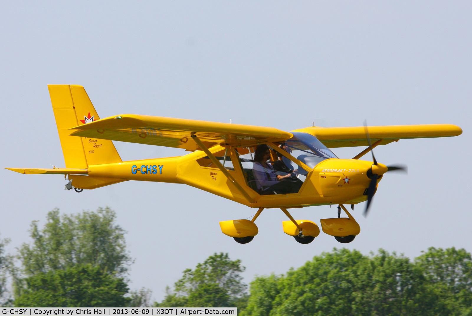 G-CHSY, 2013 Aeroprakt A22LS Foxbat C/N LAA 317B-15186, at Otherton Airfield