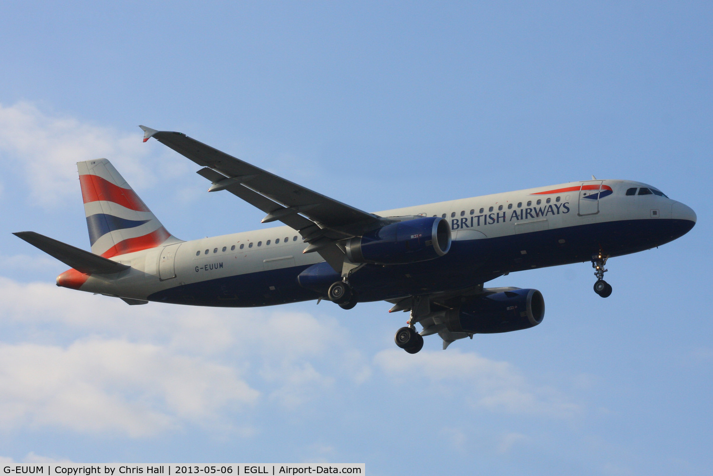 G-EUUM, 2002 Airbus A320-232 C/N 1907, British Airways