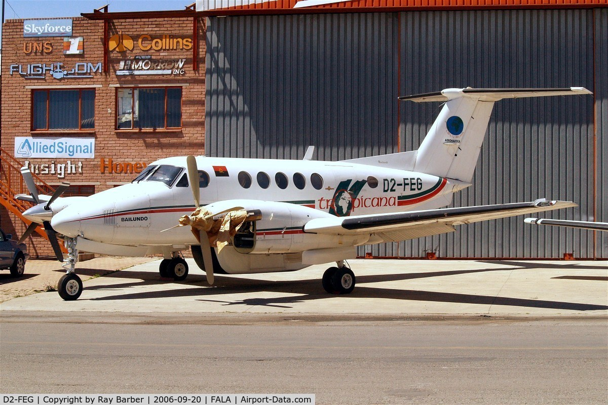 D2-FEG, Beech B200 King Air C/N BB-1060, Beech B200 Super King Air [BB-1060] (Tropicana) Lanseria~ZS 20/09/2006