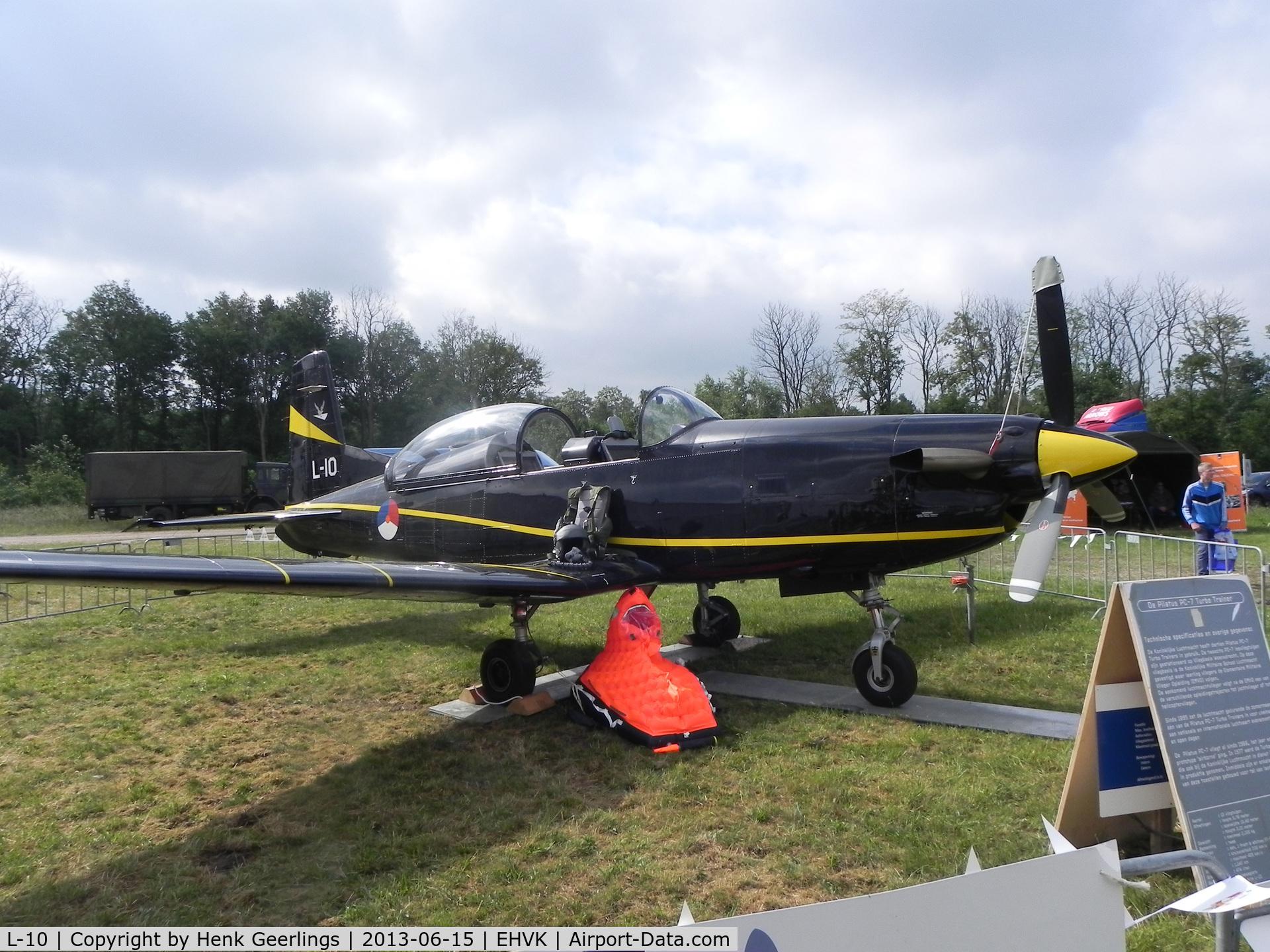 L-10, Pilatus PC-7 Turbo Trainer C/N 547, Airforcedays , 14/15 June  2013 at Volkel AFB