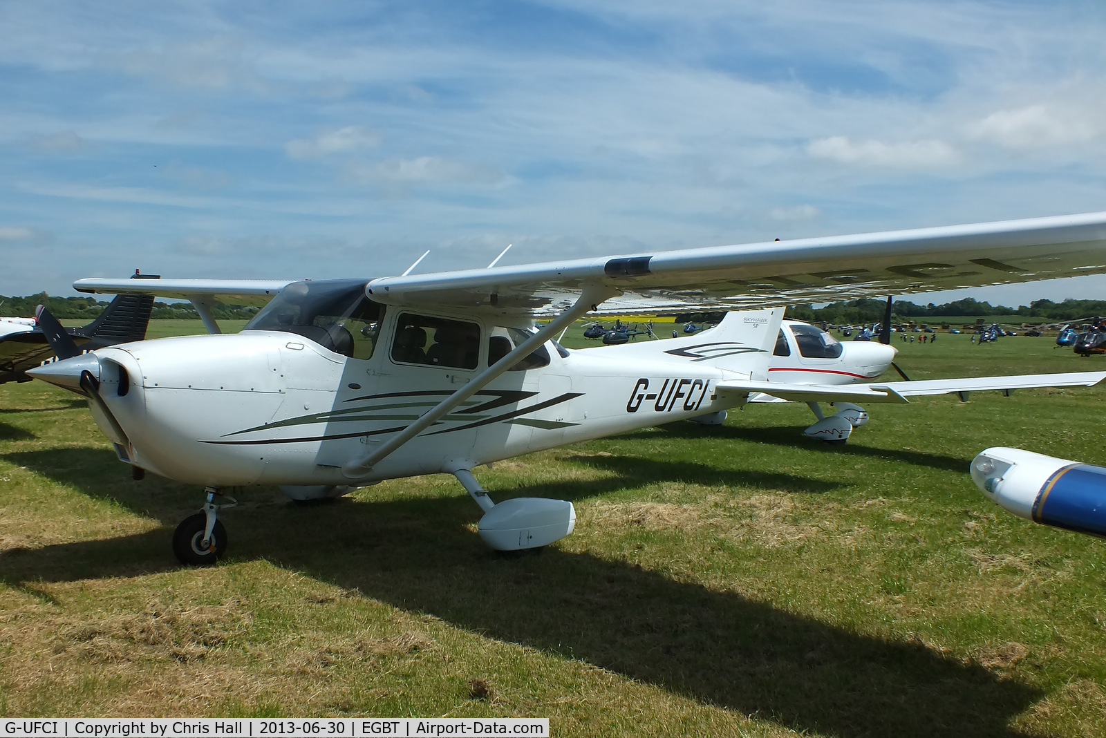 G-UFCI, 2007 Cessna 172S Skyhawk C/N 172S-10508, Visitor at Turweston for the British F1 Grand Prix at Silverstone