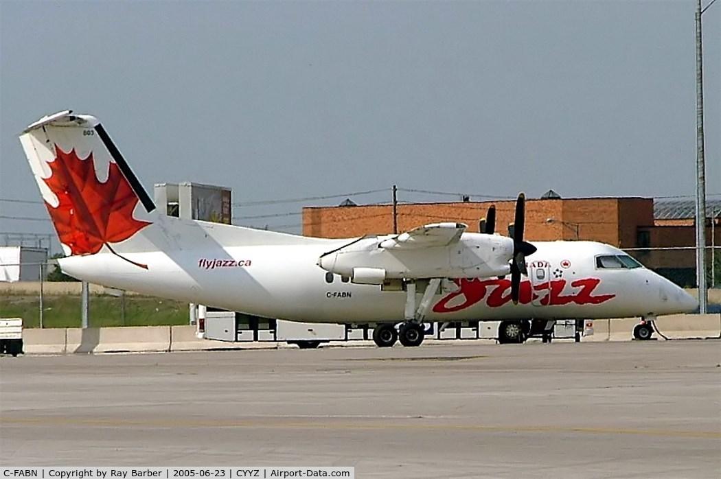 C-FABN, 1986 De Havilland Canada DHC-8-102 Dash 8 C/N 044, De Havilland Canada DHC-8-102 Dash 8 [044] (Air Canada Jazz) Toronto~C 23/06/2005
