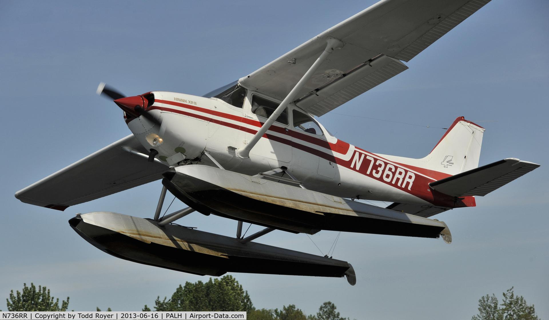 N736RR, 1977 Cessna R172K Hawk XP C/N R1722733, Departing Lake Hood
