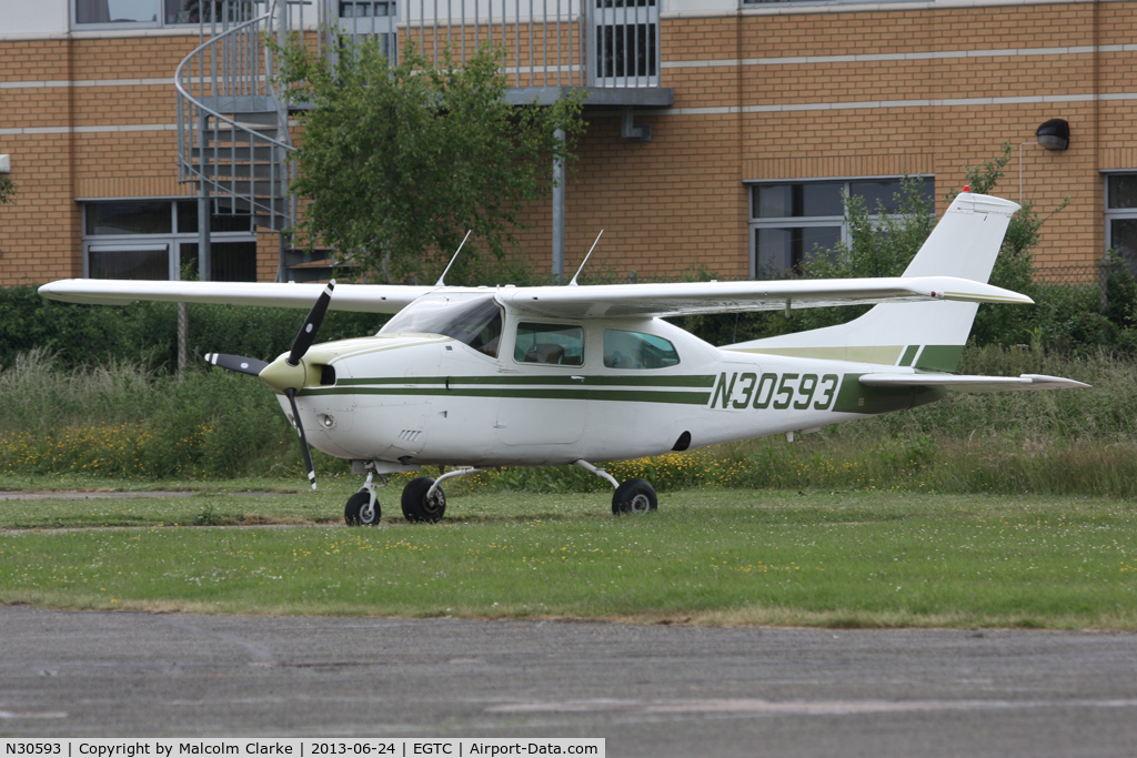 N30593, 1973 Cessna 210L Centurion C/N 21059938, Cessna 210L, Cranfield Airport, June 2013.