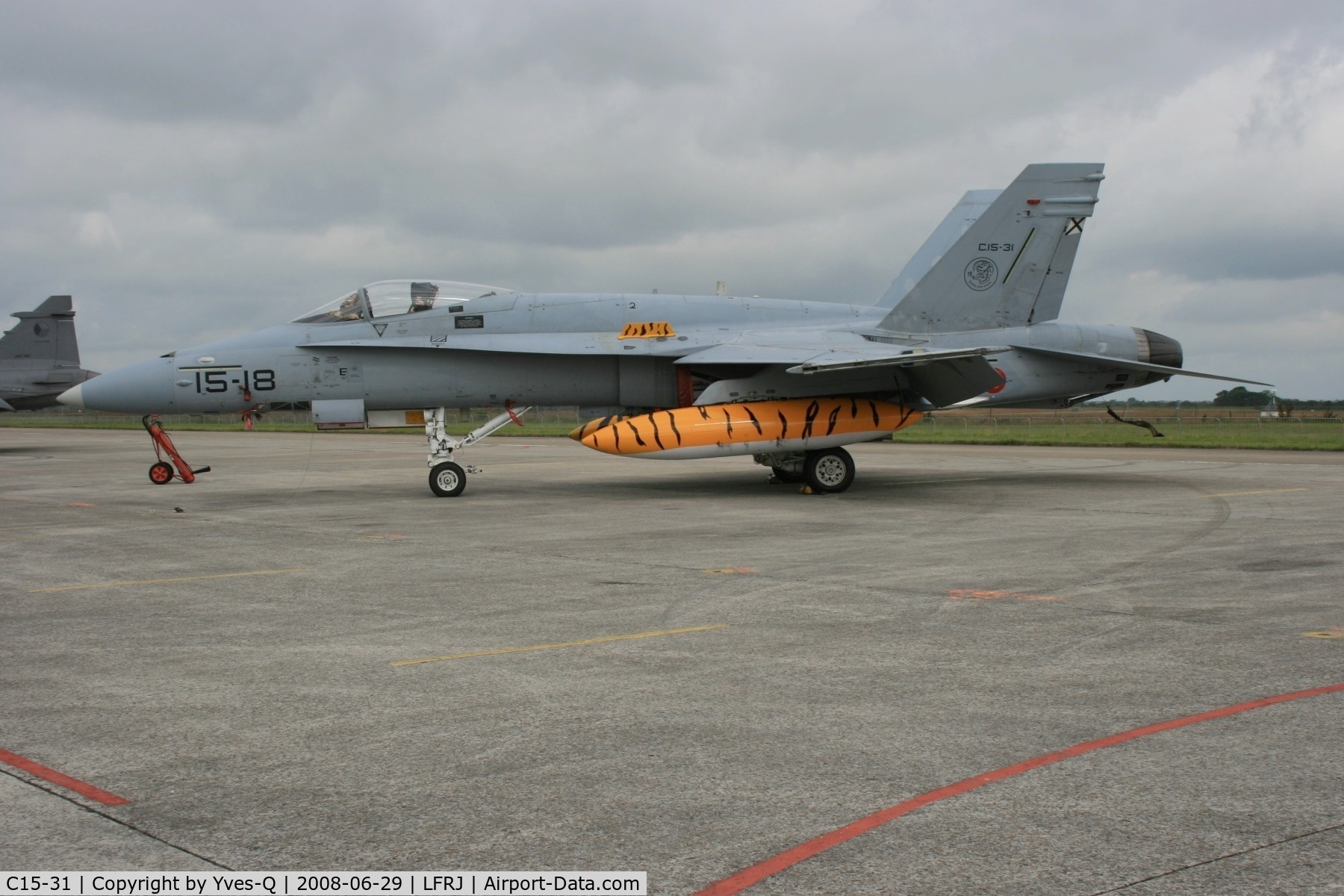 C15-31, McDonnell Douglas EF-18A Hornet C/N 0533/A442, Spanish Air Force McDonnell Douglas EF-18A  Block 23 - C15-31, Landivisiau Naval Air Base (LFRJ)